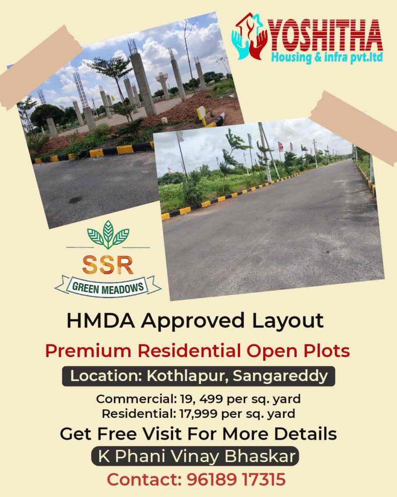 HMDA approved Open Plots for Sale near Kothlapur, Sangareddy