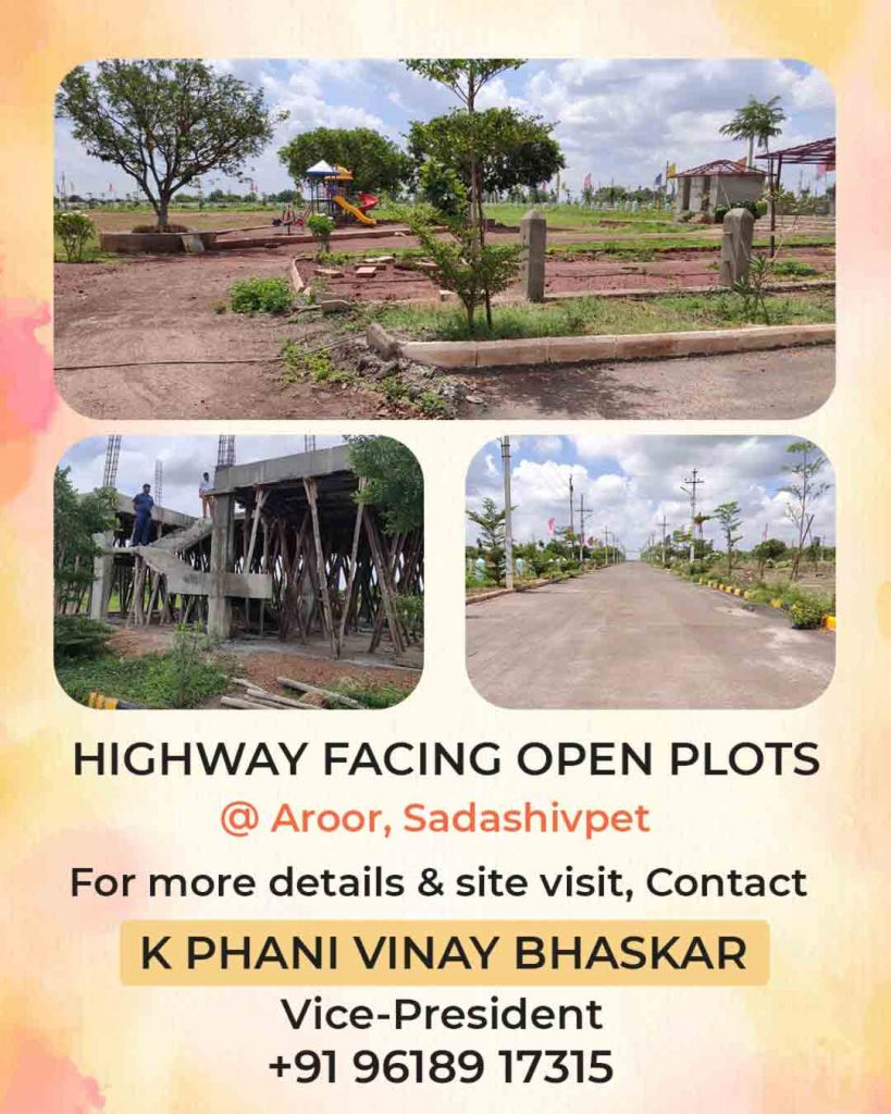 HMDA & DTCP Approved highway facing open plots for sale in Sadasivpet
