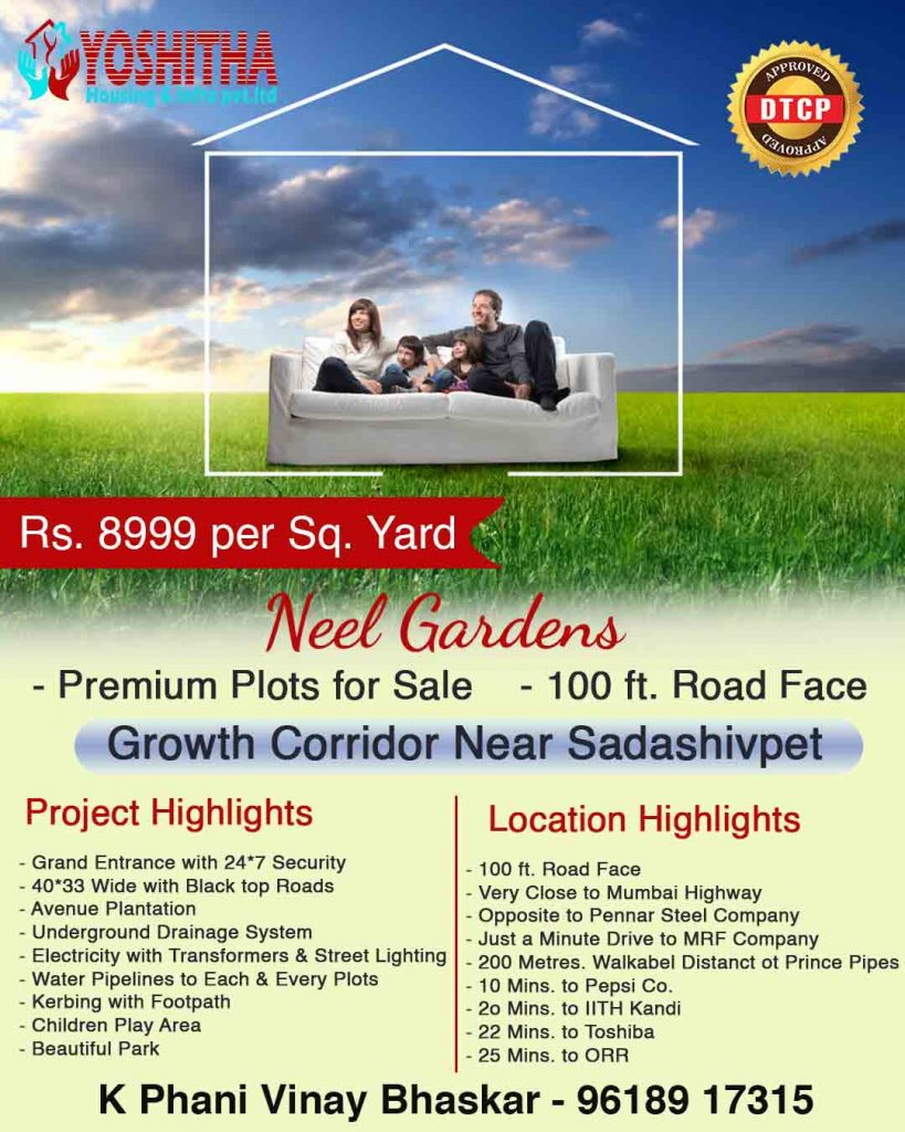 Residential open plots for sale in Sadasivpet