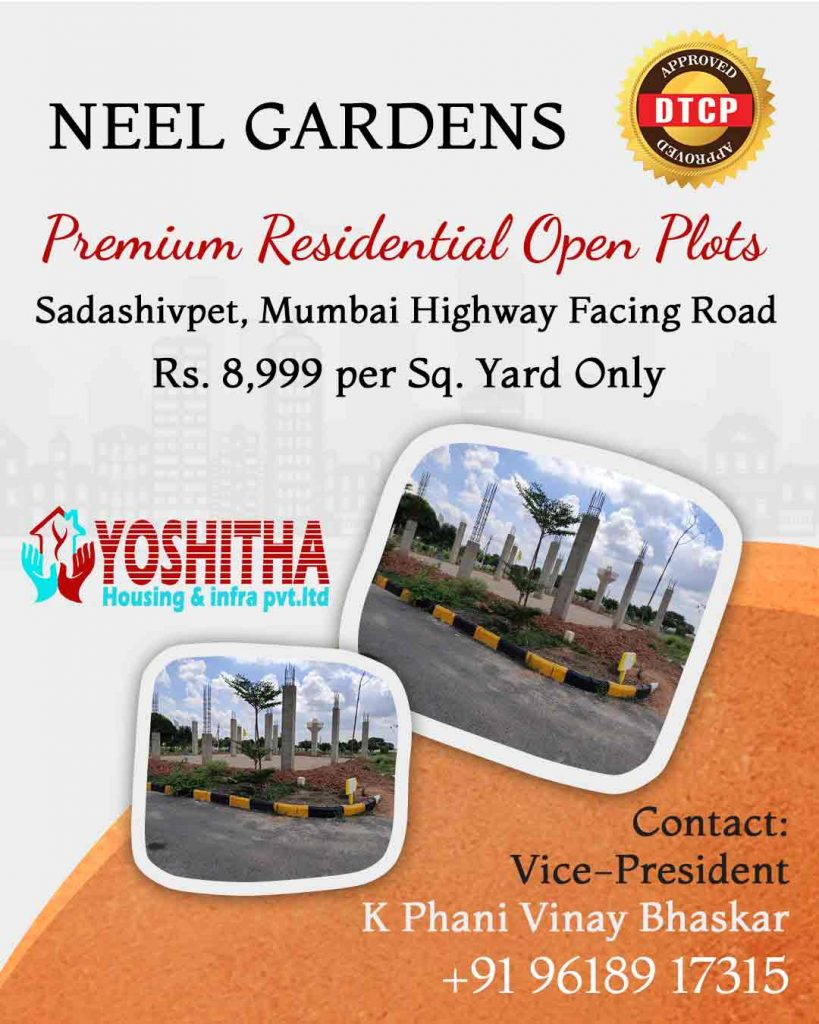 HMDA Approved Open Plots for Sale in Sadasivpet near Mumbai highway