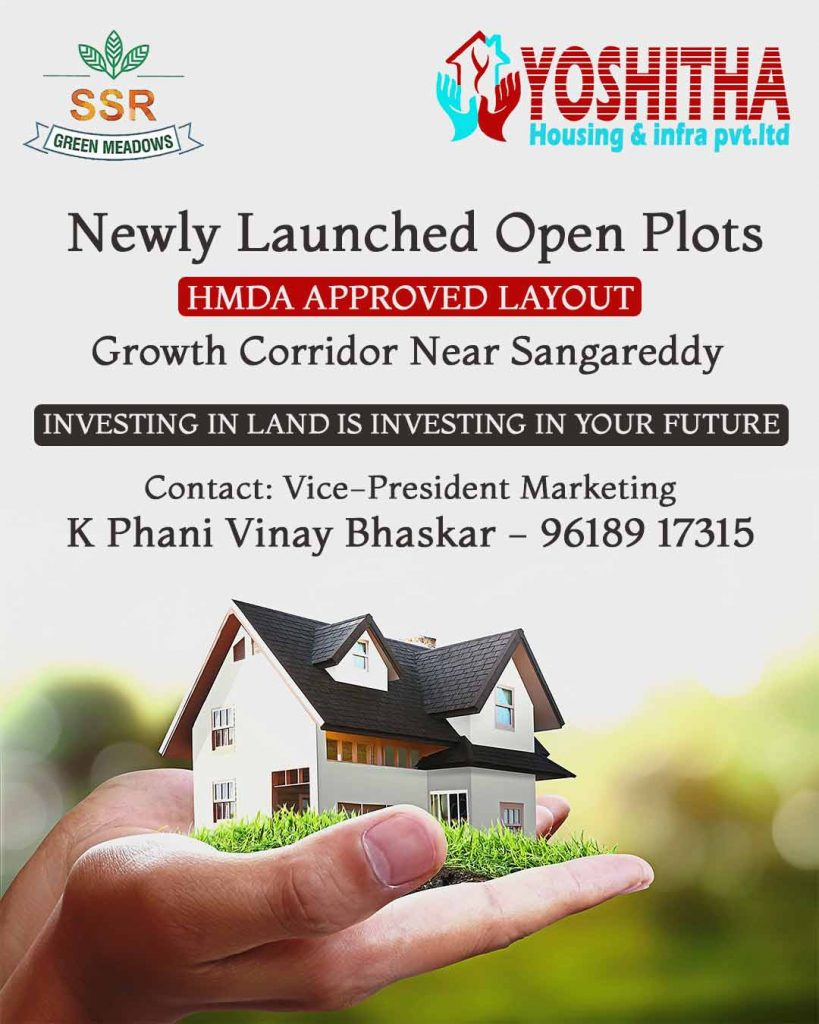 Newly Launched open plots near Sangareddy, Kothlapur.